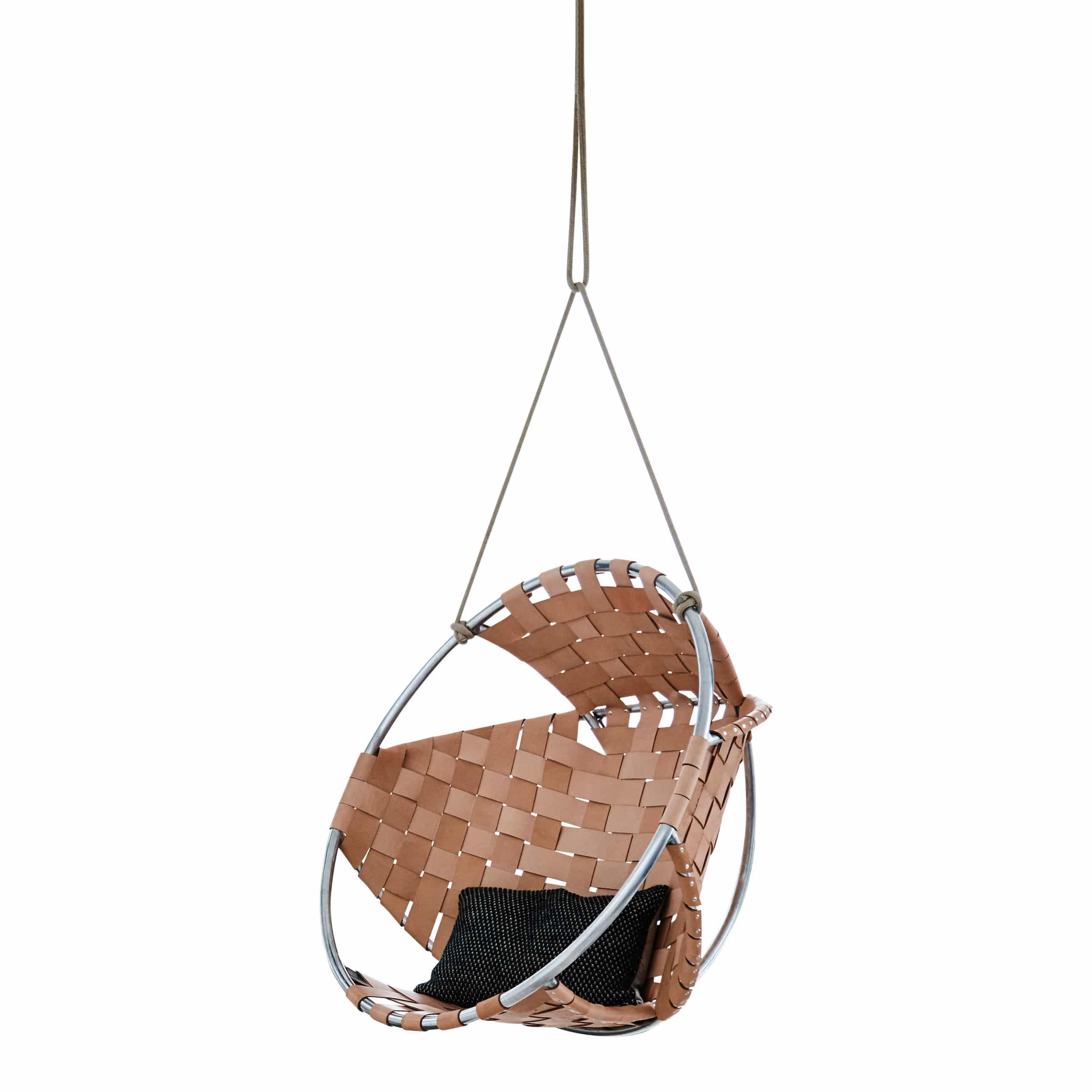 Cocoon læder hængestol