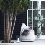 Lounge Satellite_Beige. Vertical flowerpots_Grey