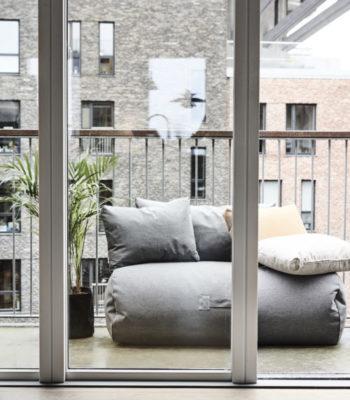 Mini Rocket daybed, grey_cushion small, grey, amber, beige