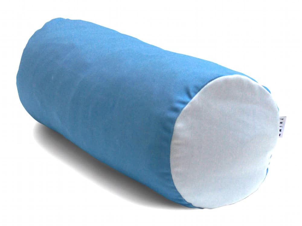 Tube Cushion Sky Blue White