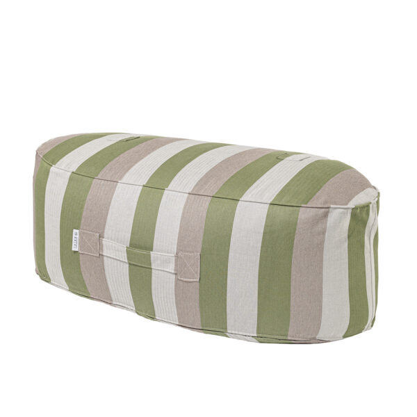 Oblong Pouf Stripe